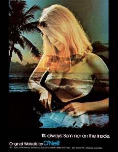 Este anuncio en el Surfer Magazine me encantó cuando lo ví, eran otros tiempos ...
